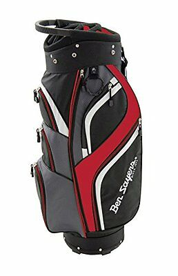 Ben Sayers Deluxe Cart Bag 2016 Black/Red Black/Red