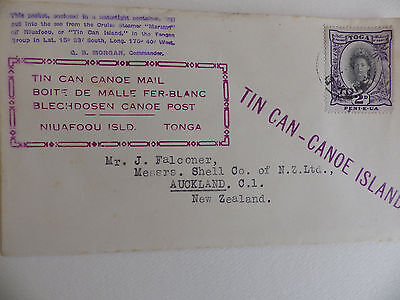 Tin Can -Canoe Island mail cover