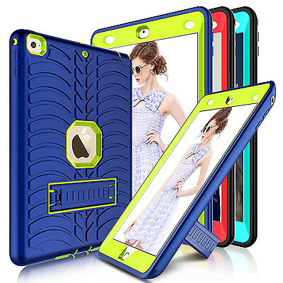 For iPad 9.7'' 2018 6th Generation Case Shockproof Rugged Hard Stand Armor Cover