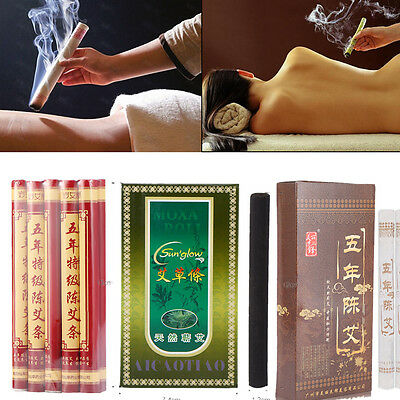 5 Years Old Traditional Moxa Roll Moxibustion Relieve Pain Burner Stick CO