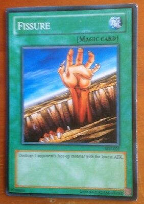 Yugioh card, Fissure, used, as per photo