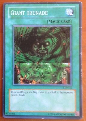 Yugioh card, Giant Trunade, used, as per photo