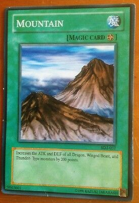 Yugioh card, Mountain, used, as per photo