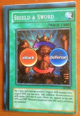 Yugioh card, Shield & Sword used, as per photo