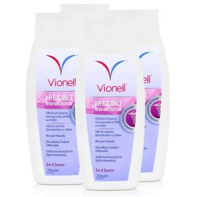 Vionell Intim Waschlotion pH Balance Soft & Sensitive 250ml (4er Pack)