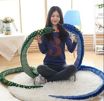 Giant big ER Large  Snake Pillow Plush Soft Toy AnimalStuffed Toys Gift Decor