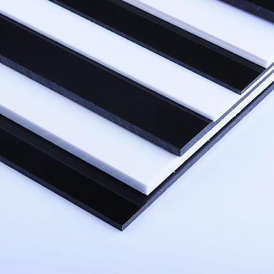 White/Black ABS Plastic Sheet Panel DIY Model Craft 0.5mm~12mm Thick Choose Size