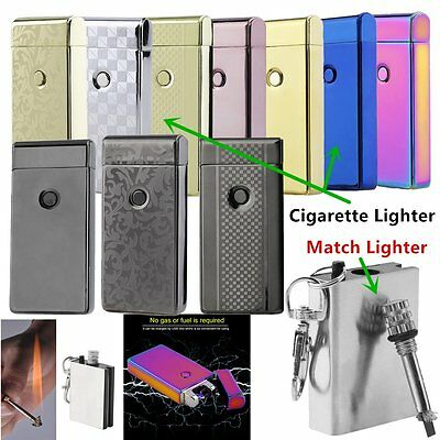 Dual Lighter Rechargeable Plasma Windproof USB Electric Flameless Arc#