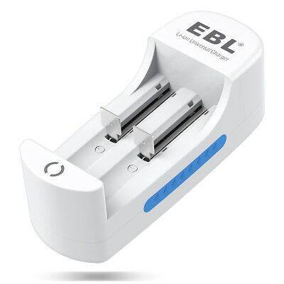 EBL Dual Slot Charger For 18650 18500 16340 14500 10440 Li-ion Lithium Battery
