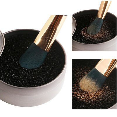 Color Makeup Brush Clean Eye Shadow Sponge Box Cleaner Quick Dry Clean Hand Tool