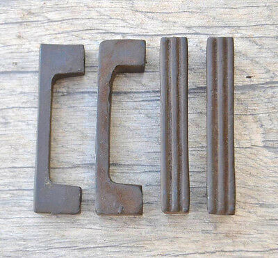 "2.8"" VINTAGE Victorian Cast Iron door cabinet screen handles Pull rustic 4pcs"