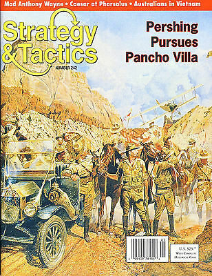 Stategy & Tactics with Pershing Pursues Pancho Villa game inc. Map & counters...