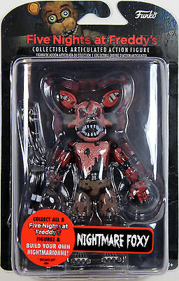 "Five Nights at Freddy's ~ 5"" NIGHTMARE FOXY ACTION FIGURE ~ Funko FNAF"