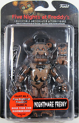 "Five Nights at Freddy's ~ 5"" NIGHTMARE FREDDY ACTION FIGURE ~ Funko FNAF"
