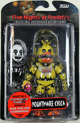 "Five Nights at Freddy's ~ 5"" NIGHTMARE CHICA ACTION FIGURE ~ Funko FNAF"