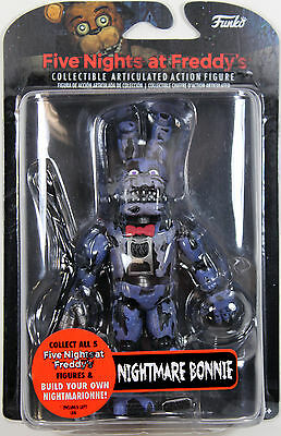 "Five Nights at Freddy's ~ 5"" NIGHTMARE BONNIE ACTION FIGURE ~ Funko FNAF"