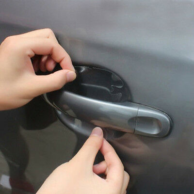 4x Clear Car Door Protective Handle Stickers - Prevent Scratches & Paint Damage