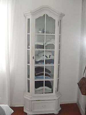 French Style glass fronted Armoire