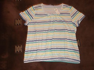ladies lovely striped Bonmarche top, size 24  (new iwth tags)