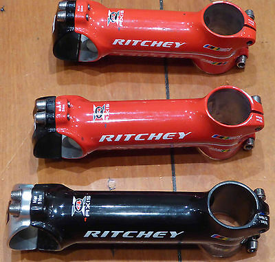 Ritchey wcs 4 axis road stem 31.8  titanium bolts Wet Red & Wet Black Excellent