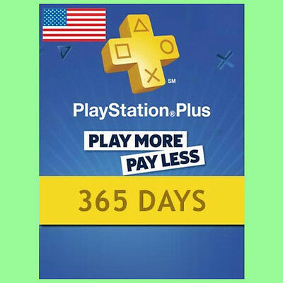 Playstation Plus Card Network 365 Tage 1 Jahr PSN PS+ PS4 PS3 PSP Code US Store