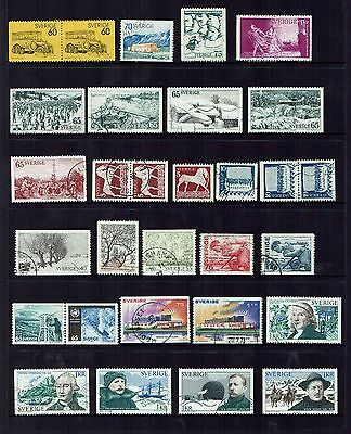 Sweden Stamps 1973 year set used.