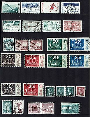 Sweden Stamps 1974 year set used.