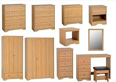 Seconique Regent Bedroom Furniture - Bedside, Drawers, Wardrobes, Dresser - Teak