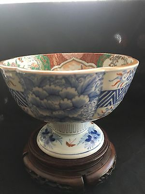 Antique Japanese Meiji Imari Fluted Sake Cup Washer