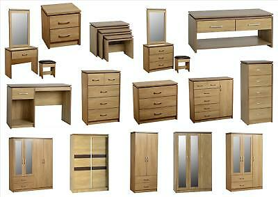 Charles Bedroom Furniture - Wardrobes Drawers Bedside Dressers - Sonoma Oak