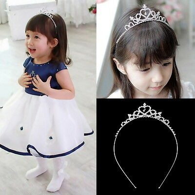 Kids Flower Girl Children Wedding Prom Tiara Crown Headband - Kid Size XH