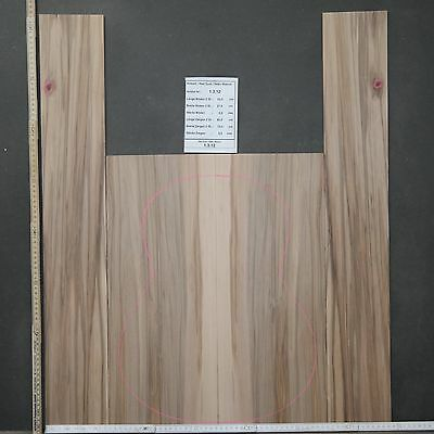 Tonewood Red Gum 1312 Figured Tonholz Guitar Builder Acoustic Backs and Site SET