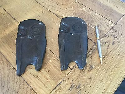 2 Arts And Crafts Bronze Owls
