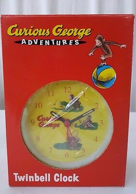 Curious George Twinbell Clock  New in Original Package Collectible