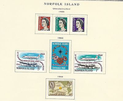 Norfolk Island - Mint Stamps (1968-1977) Mnh Mh