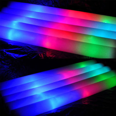 Light Up Premium LED Foam Glow Stick High Quality Flashing Multi Colour UK