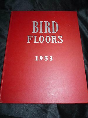 1953 Amazing BIRD FLOORS Linoleum Tile Rugs and Yard Goods Catalog HC 40 pages