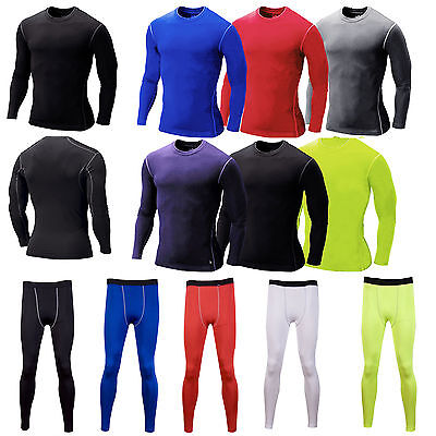 Men T Shirt  Compression Trousers  Base Under Layer Tight Top Sport Running