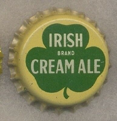 2 SCHAEFER / BEVERWYCK IRISH BRAND CREAM ALE Beer Bottle Cap Crown UNUSED CORK