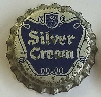 SILVER CREAM Beer Bottle Cap Crown UNUSED CORK Caps