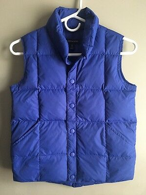 Lands End Kids Royal Blue Down Puffer Puffy Vest Youth Boys Girls Size 7 8 EUC