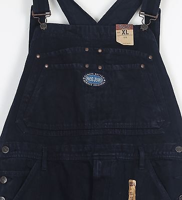 Dungarees Denim Black Vintage W34 W36 W38 L34 (73H) Large TALL