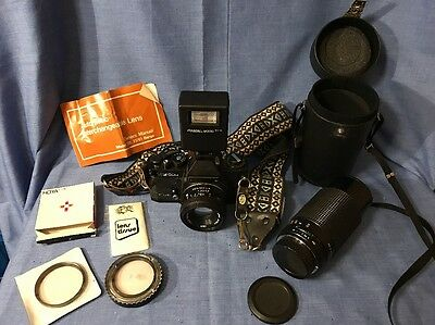 VINTAGE LATE 1970s SEARS KS 500 CAMERA BODY WITH STRAP EXTRA FILTERS HOYA PRINZ