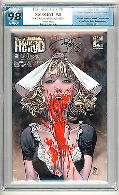 Haunted City #0  PGX 9.8 SDCC Exclusive Variant Cover 1 of 500 Made Rare L