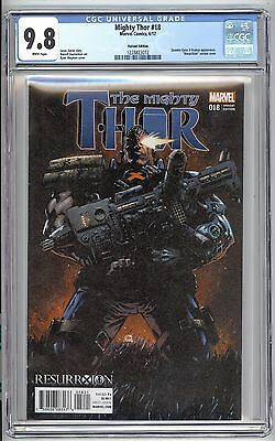 Mighty Thor #18 CGC 9.8 Cable Variant Cover by Ryan Stegman L