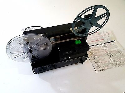 Hanimex 808D Silent 8 and 8mm Vintage Movie Projector with Instructions