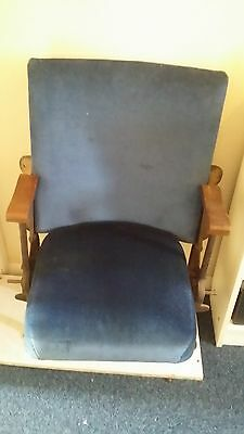 Vintage Cinema Theatre Seats 1930s Chairs Shabby Chic Retro