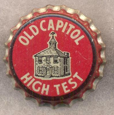 2 OLD CAPITAL HIGH TEST Beer Bottle Cap Crown UNUSED CORK Caps