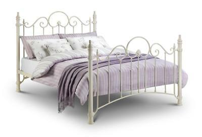 Julian Bowen Florence Victorian Style Metal Bed Frame Single Double King - White