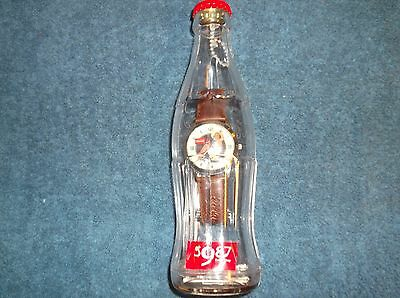 Coca Cola Watch With Calendar Lady In Swimsuit in Bottle Bank - 2002